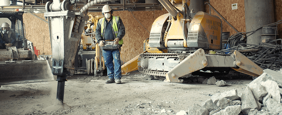 Brokk Demolition Remotely Controlled reduces Hand And Arm Vibration