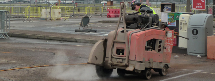 Airport Concrete Floor Sawing