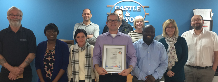 C&P Awarded ISO 9001: 2015