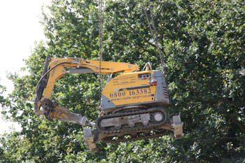 Brokk Being Lifted