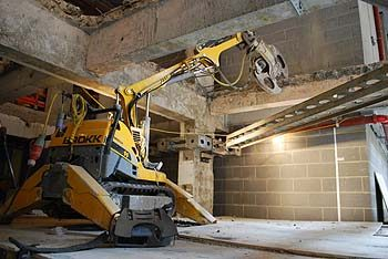 Cheapside Brokk with jaw crusher