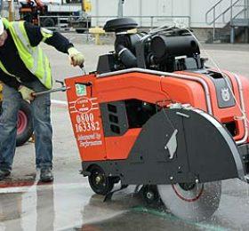 Concrete Saw Cutting At Heathrow