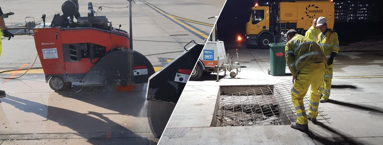 London City Airport Floor Sawing Work