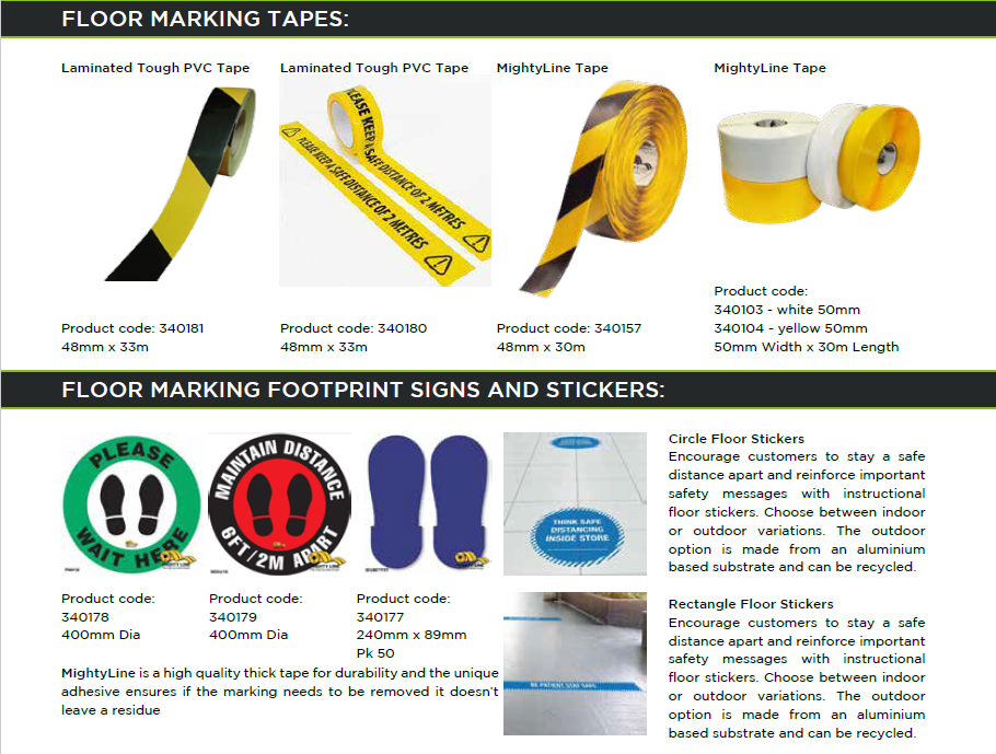 Social Distancing Floor Marking Tape Stickers And Graphics