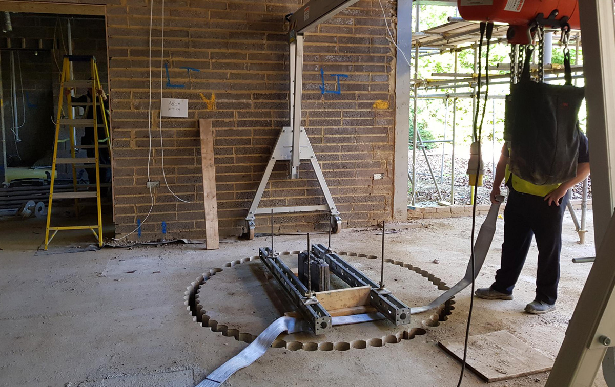 Floor Drilling Cellar Wine 1