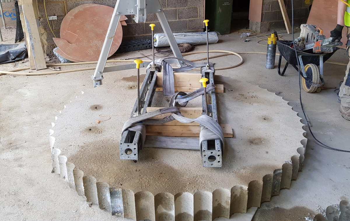 Floor Drilling Cellar Wine 2