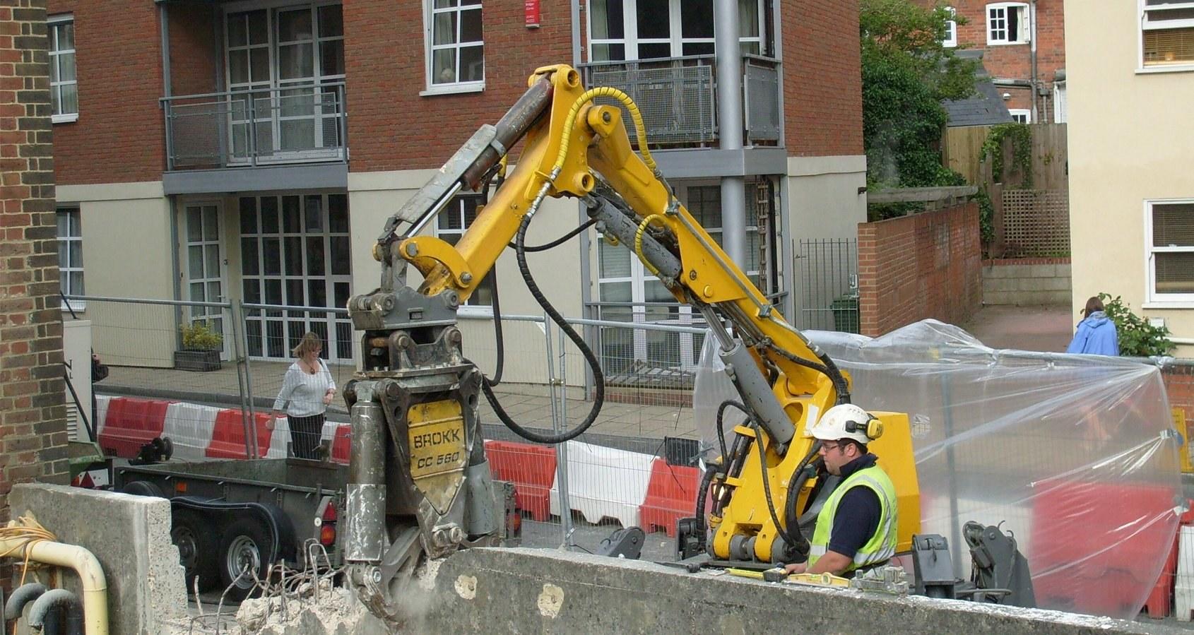 Robotic Demolition In Action