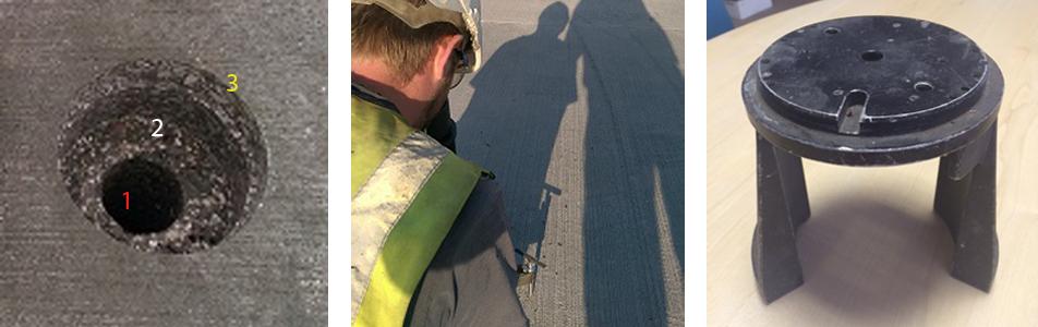 Airport Ground Lighting Device Stands On Heathrow Runway